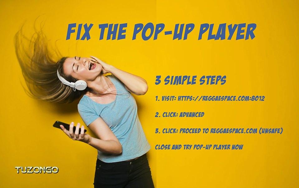 Fix the pop-up player