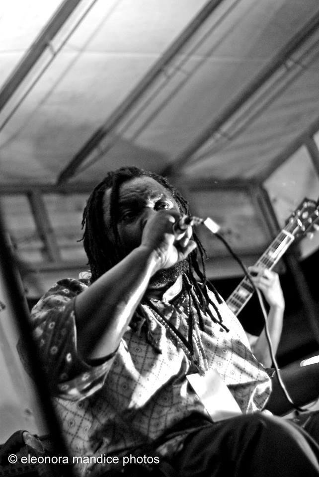 Winning Jah performing on stage at Pinerolo Para Olympic Stadium.
