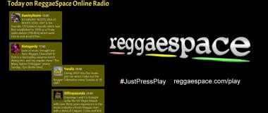Today on ReggaeSpace Online Radio